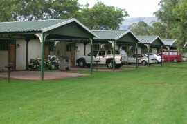 The self catering units at Drakensville Resort