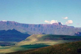The view of the Northern Drakensberg Mountains from Berghouse and Cottages