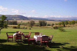 The view from the garden at Acorn Cottages