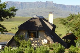 A stunning view from the chalets at Hlalanathi Resort