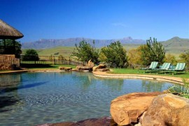 The pool area at Montusi Mountain Lodge